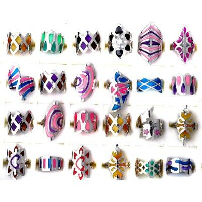20PCS Wholesale Jewelry Bulk Mixed Silver Rings COOL Fashion Ring RINGS SET CUTE