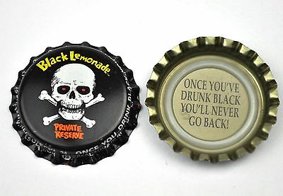 Black Lemonade Beer Bier Soda Kronkorken USA Soda Bottle Cap Totenkopf Skull