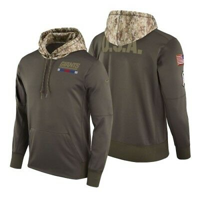 NEW YORK GIANTS Nike Olive Salute to Service Sideline Therma Fit  for sale