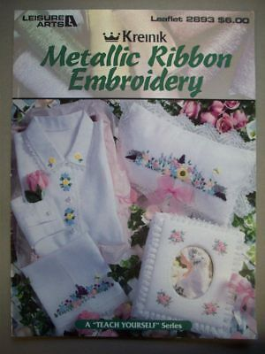 Metallics silk Ribbon Embroidery Basic instructions & patterns flowers