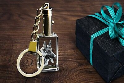 Personalised 3D Laser Engraved Crystal Keychain  (Put Your Photo In A Crystal)