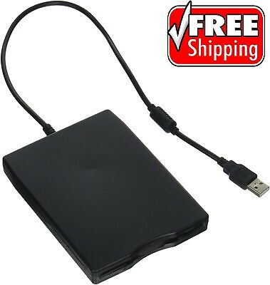 "External USB Floppy 3.5"" Disk Drive Reader Black Laptop Desktop Computer PC MAC"