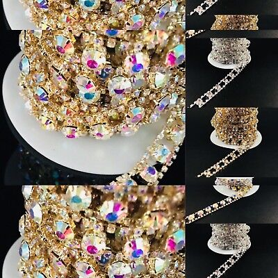 Various Colours Chine Diamante Bridal Applique Crystal Trim Wedding Dresses Belt