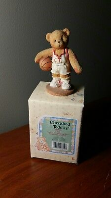 cherished teddies Larry Basketball Figurine FREE SHIPPING