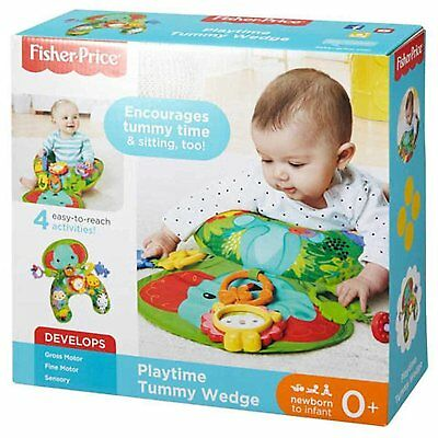 New Fisher Price Tummy Time Wedge / Sit & Play - Soft Washable w/ Fun Baby Toys
