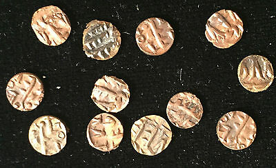 Amirs of Sind - TWO (2) rare 1,000-year-old copper Fulus coins in high grade
