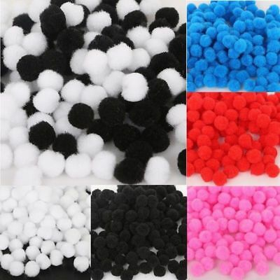 300x DIY Mixed Color Mini Soft Fluffy Pom Poms Pompoms Ball 8mm for kids Crafts
