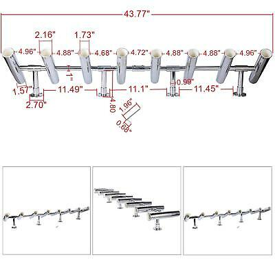 8 Tube Adjustable Stainless Rocket Launcher Rod Holders , Can Be Rotated 360 Deg