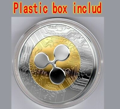 Ripple coin Gold Plated Physical coin XRP Coin Collectible Coin in Acrylic Case