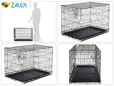Extra Large Dog Crate Kennel Folding Pet Wire Cage Giant Breed Size Front Entry