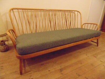 Ercol Jubilee Solid Beech 3 Seater Sofa Blonde *Free Delivery Vintage Retro