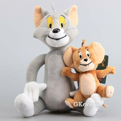 Cat & Mouse Soft Toy Tom and Jerry Plush Doll Cute Stuffed Animal Figures 2PCS