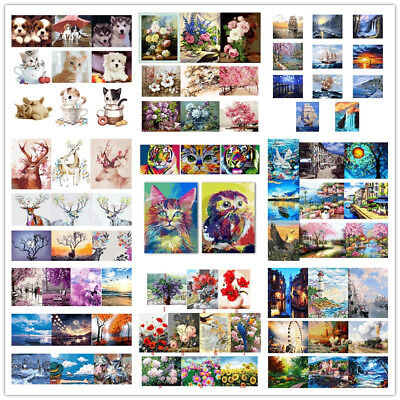 106 Types 5D Paint By Numbers Kit DIY Oil Painting Canvas Home Office Decor AU