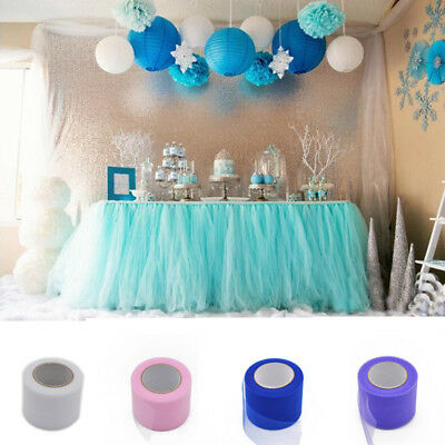 "2""x 25YD Tulle Roll Spool Tutu Wedding Party Gift Wrap Fabric Craft Decorations"