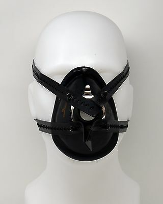 ☢ Anaesthesia Mask Harness - 4 Tail Type - Black Rubber - Small
