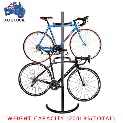 Gravity Bike Carrier Storage Rack Carries 2 Bikes Garage Stand Bicycle Hitch New