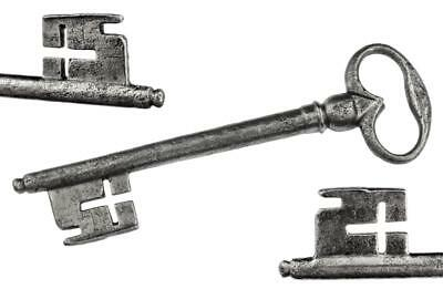 "Antique 18th/19th Century Iron Key with CROSS WARD 4⅞"" - ref.k435"