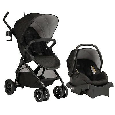 Evenflo Sibby Travel System, Charcoal Extra-long sport style