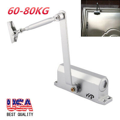 NEW Aluminum Commercial Door Closer Two Independent Valves Control Sweep 60-80KG