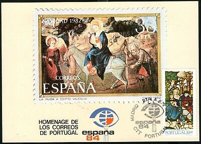 Portugal 1984 Espana 84 Postcard Cancelled at Exhibition