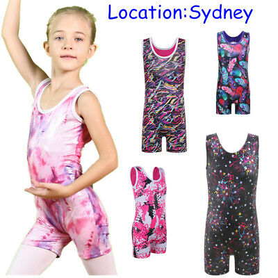 3-11Y Kids Girls Clothes Ballet Biketard Gymnastics Leotards Stretch Dancewear