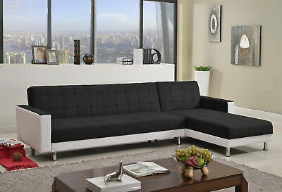 3M LINEN FABRIC 5 Seater Sofa Bed Modular Recliner Corner Futon ...