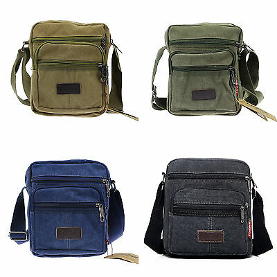 Mens Casual Military Canvas Travel Camping Satchel School Shoulder Bag Messenger