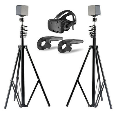 2 Pcs Adjustable Light Stands for HTC VIVE 260 CM with 1/4 Tripod Mini Ball Head