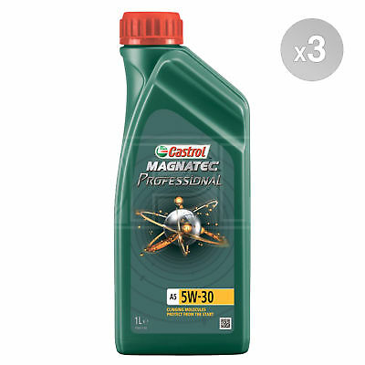 Castrol Magnatec Professional A5 5W-30 5W30 Fully etic Engine Oil - 3 x 1 Litres