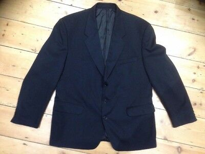 Scott Daniel Suit Jacket Blazer 44 R Single Breasted Large Black