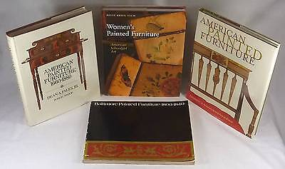 4 Books on Antique American Painted Furniture: Baltimore, Women-Painted, +