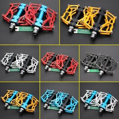 "2Pcs Cycling Alloy Flat-Platform Pedals 9/16"" MTB Bike Bicycle 8 Sealed Bearing"