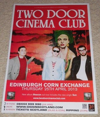 Two Door Cinema Club - CONCERT POSTER - live music show gig tour poster