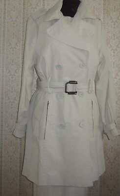Vintage Sabena 1980's trench coat. Size L. Fully lined. Zip pockets.