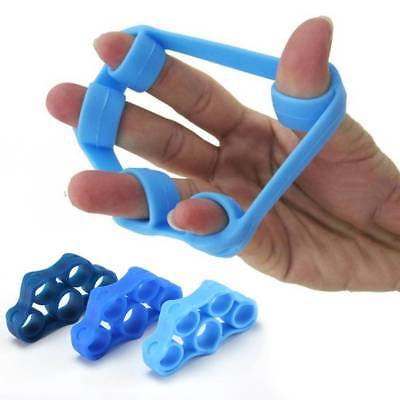 Silicone Finger Exercise Expander Stretch Hand Gripper Resistance Band Tension
