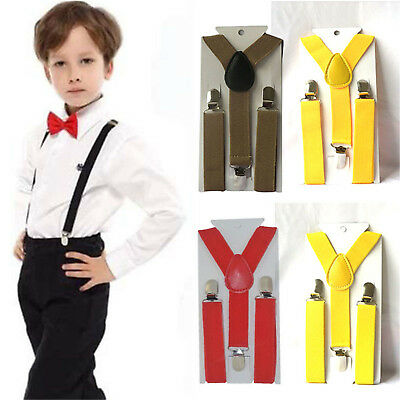 Child Kids Baby Adjustable Suspender Girl Boy Clip-on Elastic Y-back Braces BE