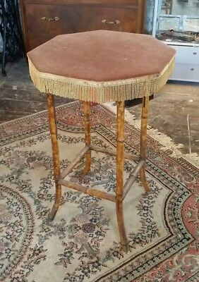 Vintage 19th century bamboo  Gypsy table