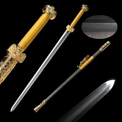 Highest grade Sword Refinings pattern steel Pure copper Fittings gold-plate #015