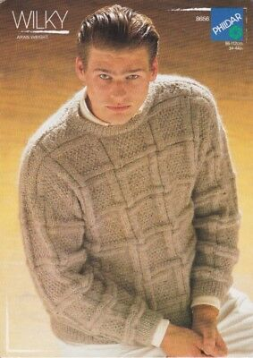 mens  knitting pattern
