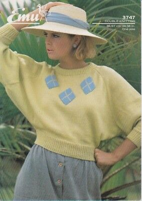 womans vintage knitting pattern