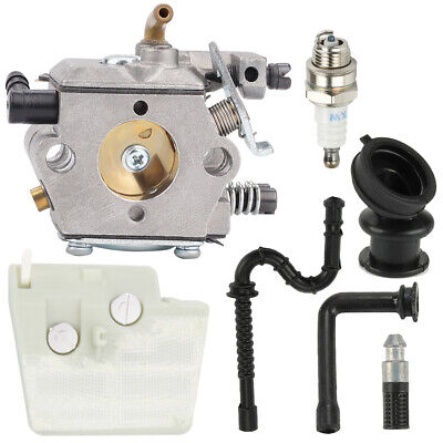 Carburetor For Walbro WT-194 Stihl 024 026 MS240 MS260 Carb w/ Air Fuel Filter