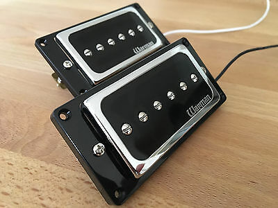 Pair of Warman HBP90 humbucker sized P90 guitar pickups
