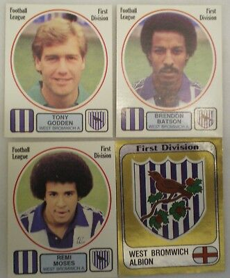 WEST BROMWICH PANINI'S FOOTBALL 82 STICKERS x 4 FIGURINE PANINI inc FOIL CREST
