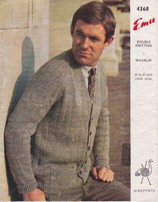 cardigan vintage knitting pattern mens