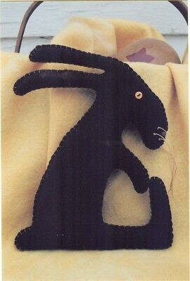 Wool Applique Pattern Chocolate Rabbit Bunny  *new* - So Quick To Make!!!