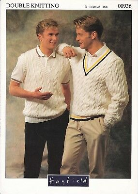 mens cricket style vintage knitting pattern