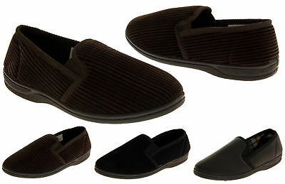 Mens Casual Outdoor Sole Shoes Slip On Twin Gusset Full Backed Men Shoe Slippers