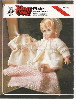 dolls vintage knitting pattern pram set