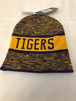 reputable site d807c 29cb7 Nike LSU Tigers Reversible College Beanie Hat Cap Mens Womens Unisex New NWT