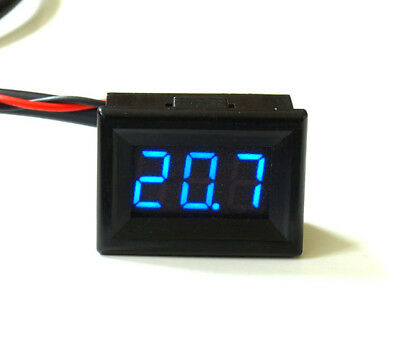 Mini LED Thermometer -20°+ 110/150°C SMALL BRIGHT 12V Temperature Display for